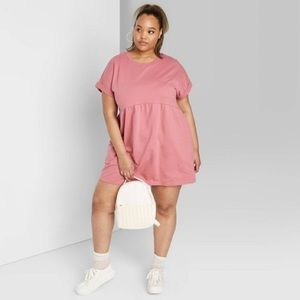 Target Wild Fable Dusty Pink T-Shirt Mini Dress